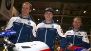 Laverty (centre), Bridewell and Seeley (right) will be on track tomorrow at Cartagena