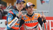 Alex and Marc Marquez at Valencia today
