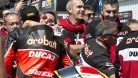 Marinelli (tall) is the man charged with returning Ducati back to the top of WSBK