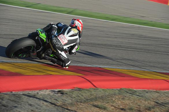 Bikesportnews.com Smart on his out lap at Aragon