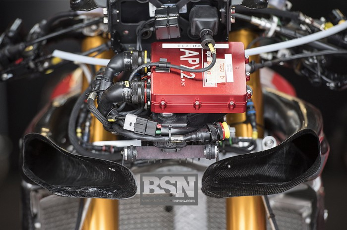 Aprilia use their own APX electronics in WorldSBK