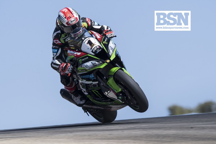 WorldSBK Portimao: Jonathan Rea completes Portimao double as Chaz Davies crashes out