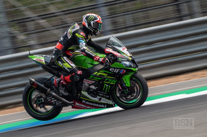 Rea is having to make up time on the brakes and in corners