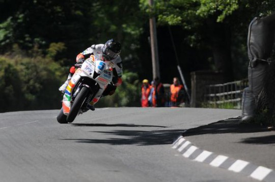 Bruce Anstey in action at Churchtown today