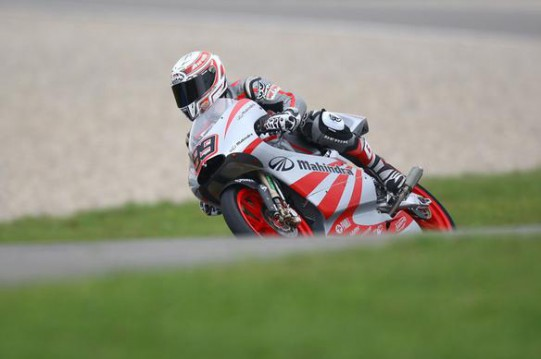 Britain's Danny Webb in action at Assen on his 125cc Mahindra
