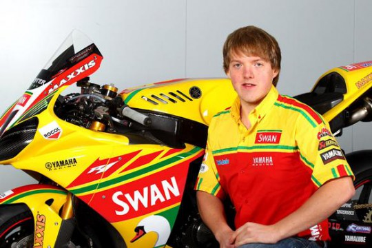 Pearce with his Swan Yamaha-liveried SMR Performance R1