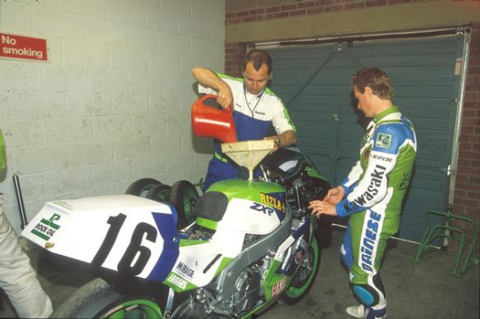 A rare picture of his majesty Colin Wright doing some work baxk when racing was racing