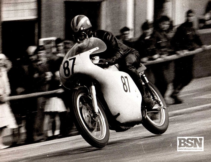 Butcher during the 1963 Senior Manx GP