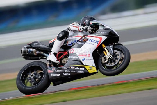 Berger on the Supersonic Ducati at Silverstone last year