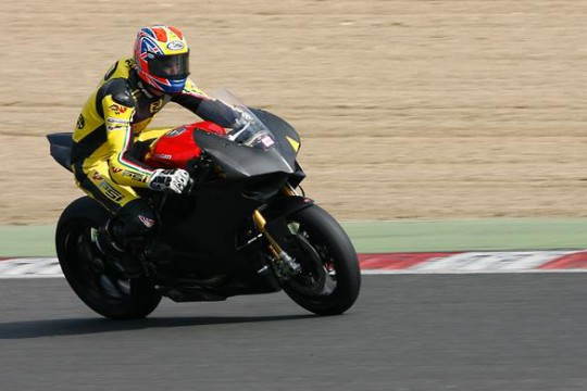 Tunstall in action exiting Paddock Hill