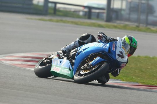 Laverty in action at Snetterton today