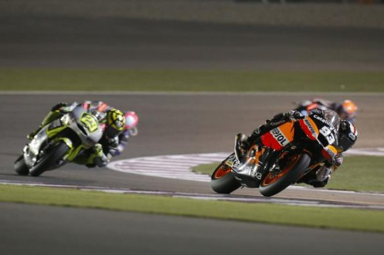 Marquez and Luthi have been told off