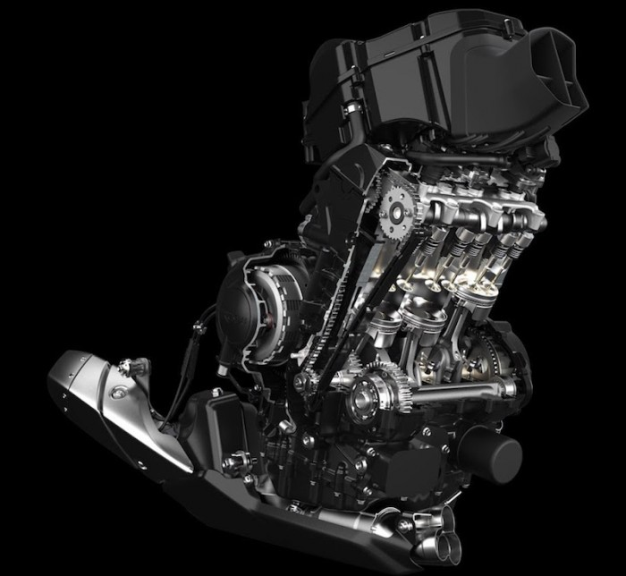 Triumph's current 675 R engine