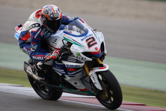 Leon Camier is using this morning's first session as a test