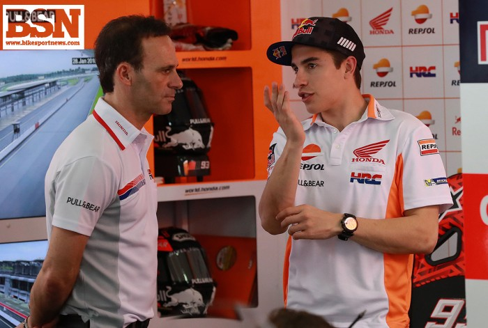 Marquez discusses animal husbandry with new team boss Alberto Puig