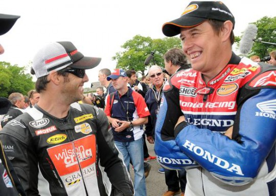 McGuinness shares a joke with his World Endurance team-mate Cameron Donald