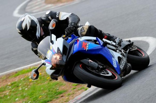 Talan on his trackday-spec GSX-R
