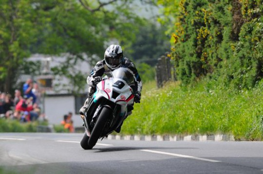 The all-action Michael Dunlop in TT 2012 action