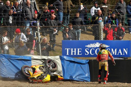 Haga slides off for the second time that weekend
