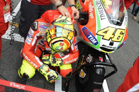 A competitive bike is all Rossi requires for 2013