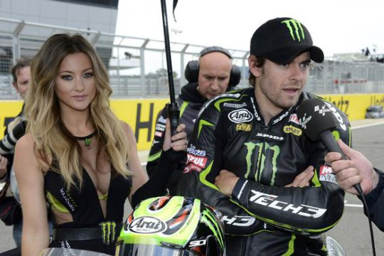 Crutchlow on the grid at Silverstone