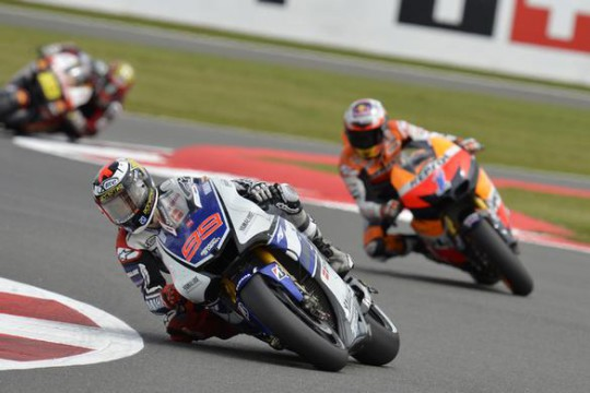 Lorenzo has less than a tenth of a second in hand over third-placed Stoner