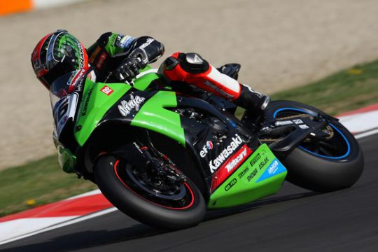 Sykes and Laverty are giving Biaggi a hard time at the sharp end