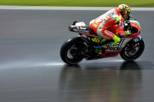 It got a bit damp at the Sachsenring...