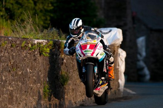 Michael Dunlop in action this evening on the Billown circuit
