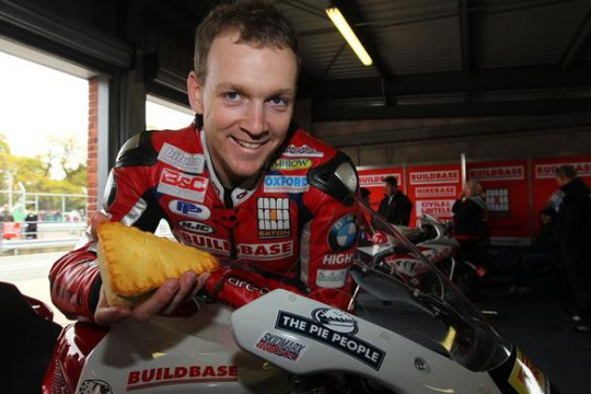 Linfoot (pictured with a month's worth of food) will switch to World Supersport