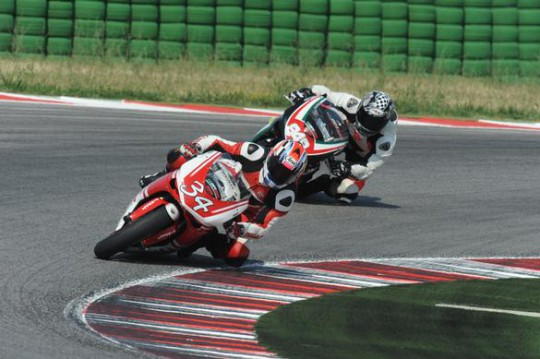 Brown in action at the Misano 848 Challenge round