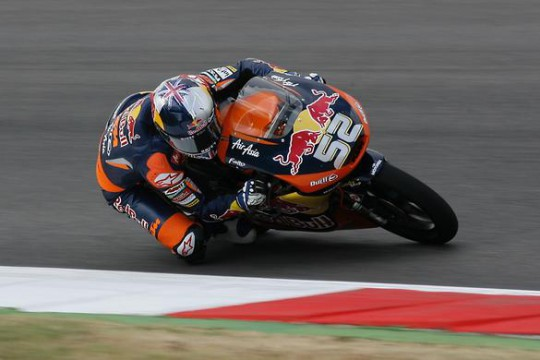 Danny Kent dropped to fifth after running with the leaders