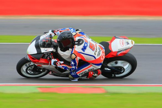 Noyes in action at Silverstone
