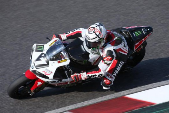 Noriyuki Haga in action on the Monster YART Yamaha