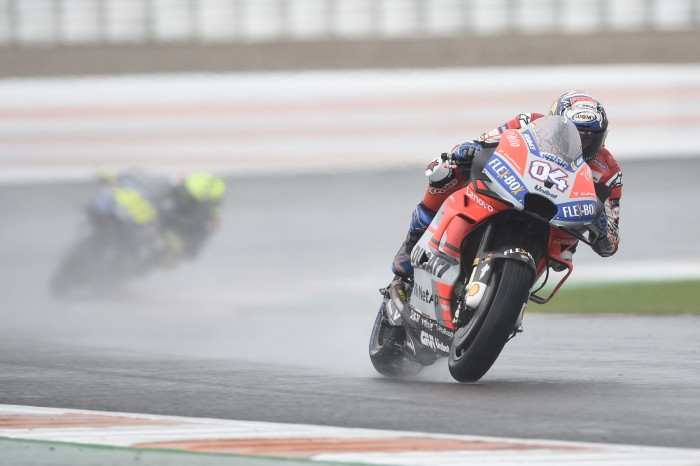 Motogp Valencia Dovizioso Masters Monsoon Conditions Bikesport News