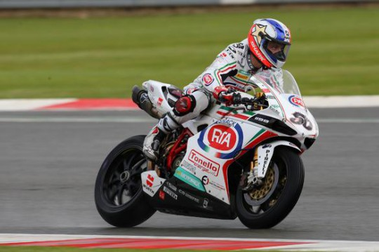 Guintoli put on a masterclass in race two
