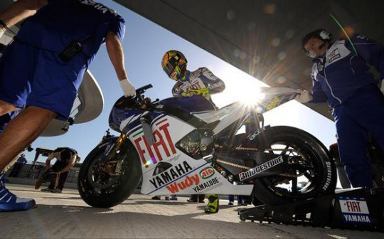 Rossi is back on the bike he calls his own