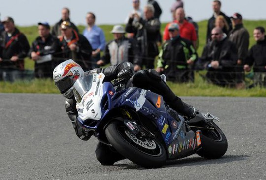 Kneen in action at the Ulster