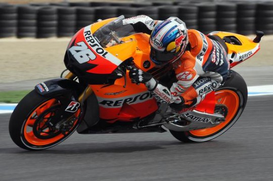 Pedrosa held a one-second advantage until Spies pegged him back