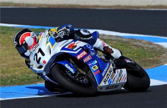 Suzuki's Josh Waters in ASBK action