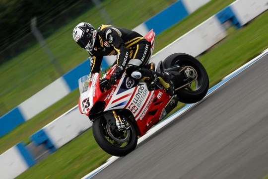 Polita in action during the recent Donington Park test day