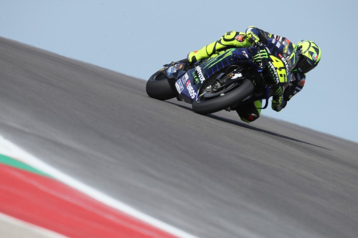 a1b236c1b5bb Factory Yamaha MotoGP rider Valentino Rossi said that he feels good on his  Yamaha YZR-M1 en route to securing a front row start for the first time  since ...