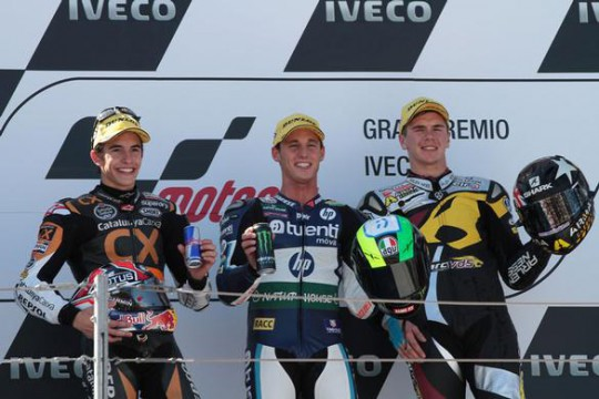 Redding on the Aragon podium