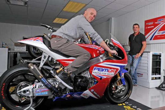 Laverty tries his CRT bike out for size at Bird's workshop