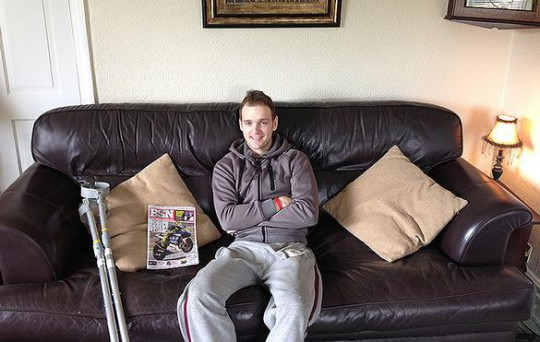 Linfoot at home with his favourite 'gentleman's publication'