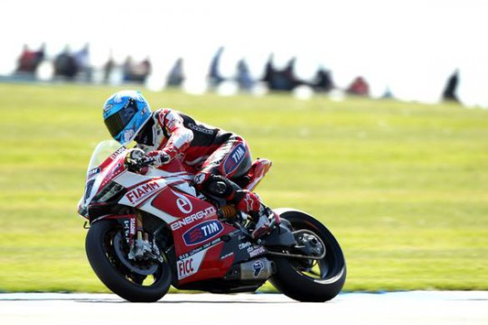 Checa is in too much discomfort to continue at Donington