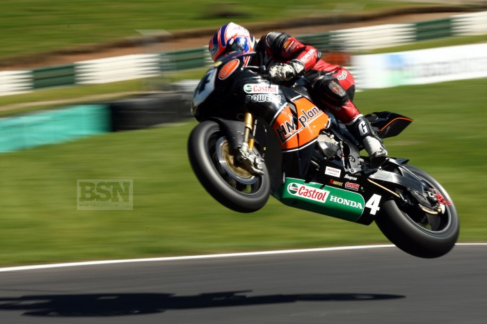 Brookes stunned crowds when he turned up at Cadwell on the HM Plant Honda