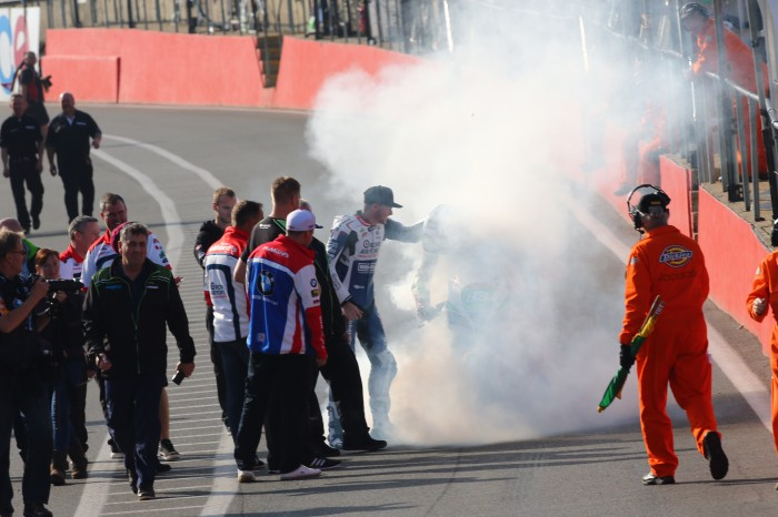 A championship win isn't official without a pitlane burnout