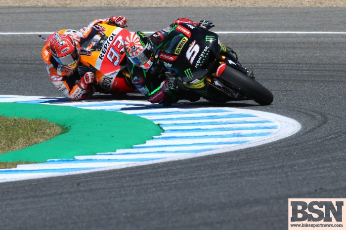 Zarco was able to mix it with Marquez at Jerez