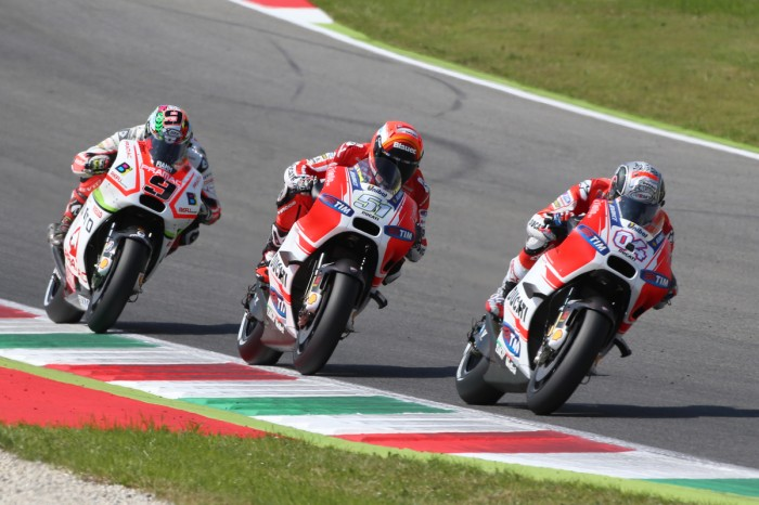 These three, plus five more, Ducatis mean a lot of engines in 2016